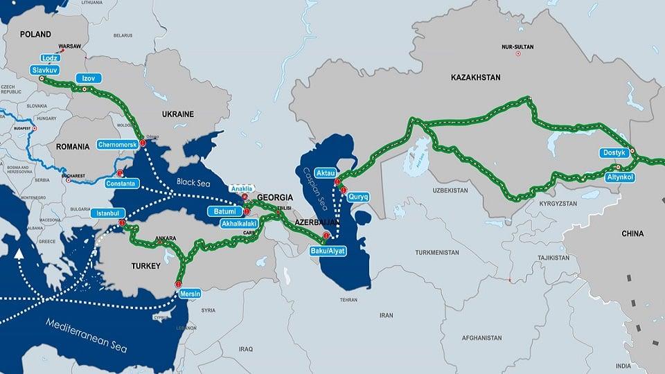 Середній коридор з Китаю до ЄС